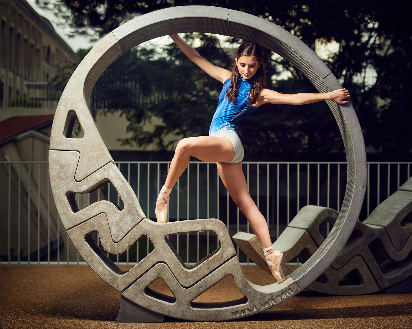 Ballerina in sculpture at Washington University Saint Louis.