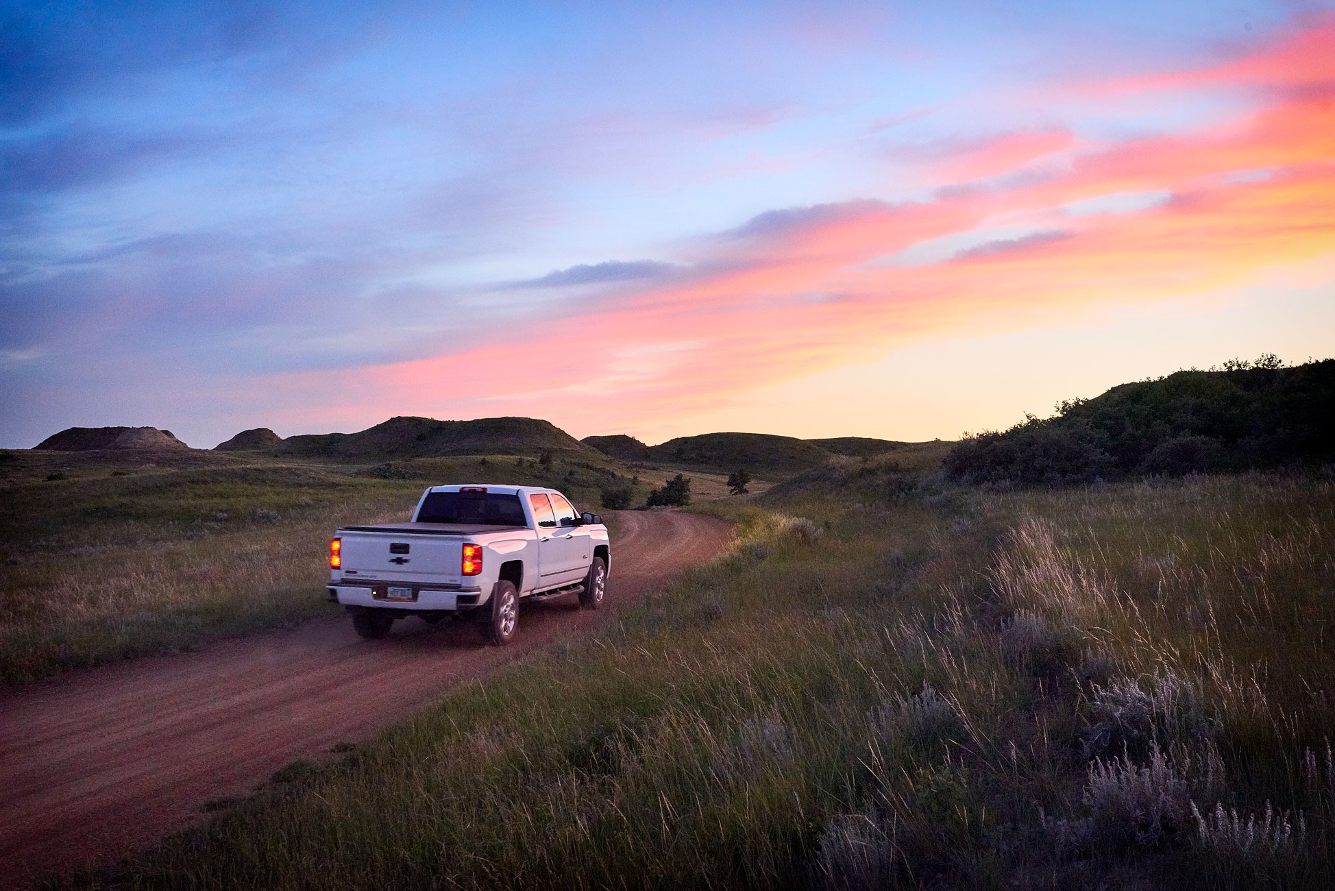 Chevy_Truck_North_Dakota_Sunset