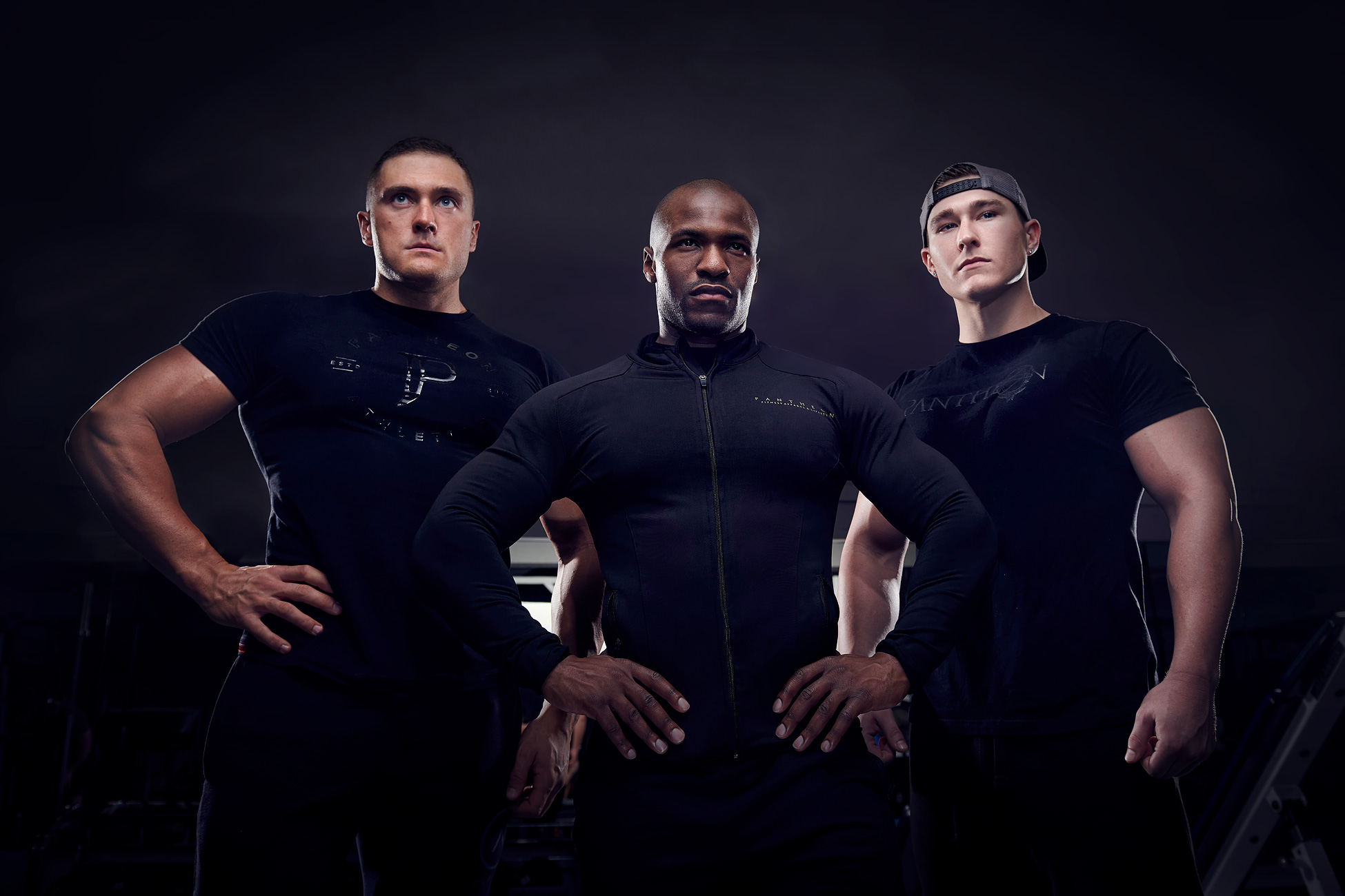 Group portrait of Pantheon Fitness models.
