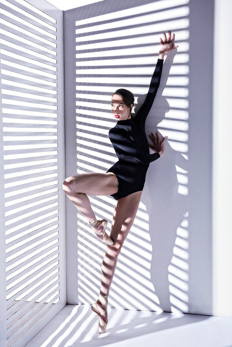 Ballerina Vanessa Woods in Studio.